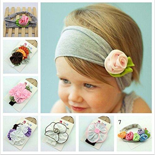 Cotton Stretch Pretty Flower Headbands