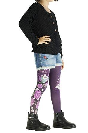 90082d07092e7 Lili gambettes Collants enfant fantaisie imprimés Kitsch violets   Amazon.fr  Vêtements et accessoires