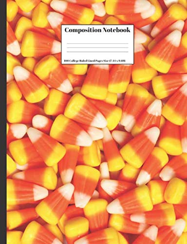 Composition Notebook: Halloween Candy Corn Design Cover 100