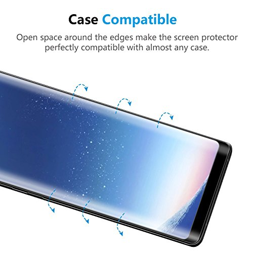 Galaxy Note 8 Screen Protector, LEDitBe[2-Pack][Case Friendly][Anti Scratch][Anti-Bubble]3D cured Premium Tempered Glass Screen Protector for Samsung Galaxy Note 8[black] by LEDitBe (Image #5)
