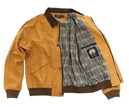 Kakadu Australia Bomber Jacket with Leather Collar, DOUBLE BAY JACKET 2nd choice - Bay Leather Jacket