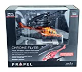 Propel Chrome Flyer--Micro Wireless Indoor RC Helicopter--ORANGE Chrome Finish