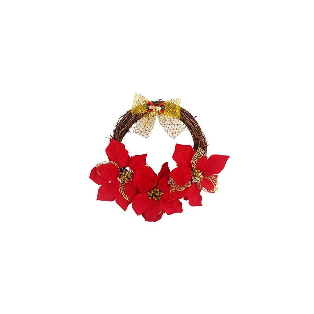 Iusun-Simulation-Rattan-Red-Flower-Bow-Berries-Hanging-Wreath-Door-Wall-Ornament-for-Thanksgiving-Day-Christmas-Party-Decoration-30cm35cm40cm50cm