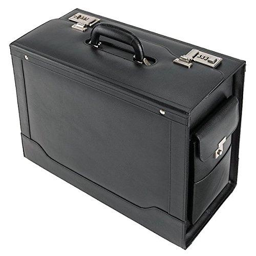 Alassio - 45042 ANCONA - pilot case, imitation leather, black Juscha