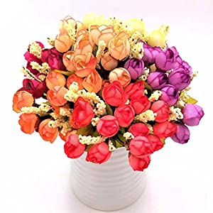 7 kinds style rattan vase + flowers meters spring scenery rose artificial flower 92