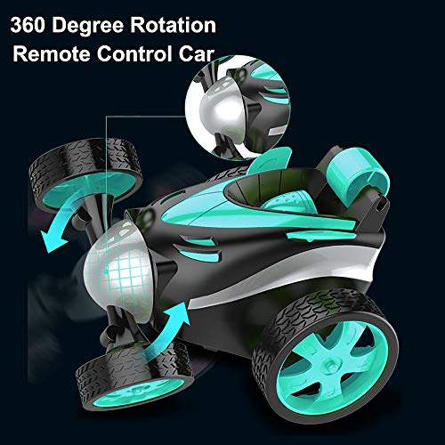 RC Cars, LGUIY Kids Toys Remote Control Car Stunt Car Vehicle 360 Degree Rotation Flip Racing Car with Mini Screwdriver Christmas Birthday Gifts Gadgets Toys for Boys Girls (Blue)