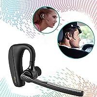 [Latest Version]WISMAR Bluetooth Headphones Best Wireless Business Earphones w/ Mic Lightweight HD Stereo Sweatproof In-Ear Earbuds for driving Workout 9 Hour Battery Noise Cancelling Headset