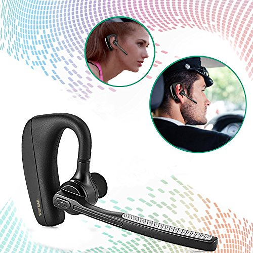 [Latest Version]WISMAR Bluetooth Headphones Best Wireless Business Earphones w/ Mic Lightweight HD Stereo Sweatproof In-Ear Earbuds for driving Workout 9 Hour Battery Noise Cancelling Headset