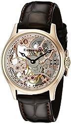 Thomas Earnshaw Men's ES-8049-03 Bauer Gold-Tone Stainless Steel Skeleton Watch