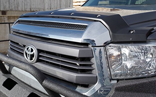 (FormFit Textured Black Tough Guard Hood Protector Bug Shield Deflector Fits 2014-2018 Toyota Tundra)