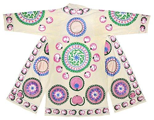 Uzbek traditional main Bukhara outwear costume kaftan caftan robe jacket coat silk embroidered B1454 by East treasures