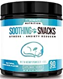 PetHonesty Calming Treats for Dogs - All-Natural Soothing Snacks with Organic Hemp, Stress & Anxiety Relief, Calming Aid for Dogs Helps Travel, Separation, Fireworks, Car Rides, Thunderstorms, 90ct