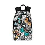 your-fantasia Beautiful Butterflies and Flowers Unisex Casual Daypack Travel Backpack Waterproof Nylon For Sale