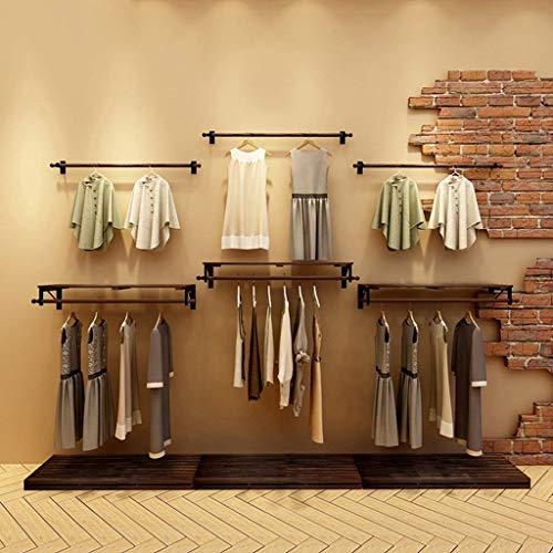 XQY Coat Racks Clothes Stand Pine Wood Single Clothing Store