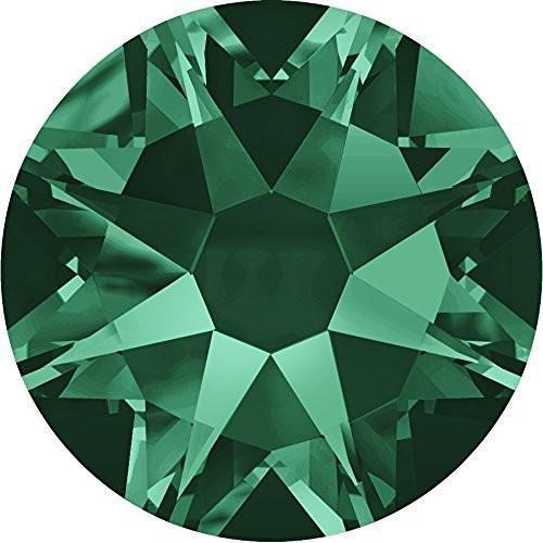 2000、2058 & 2088スワロフスキーNail Art Gems Emerald SS30 (6.4mm) - 20 Crystals 10018001 SS30 (6.4mm) - 20 Crystals  B076BBNB31