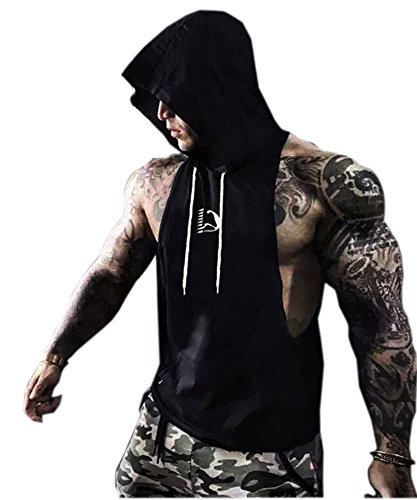 S muscle Mens Professional Workout Stringer Hoodie Tank Tops With Top Network Fabric