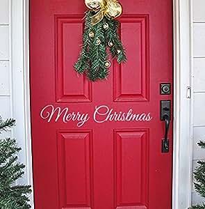 Christmas wall decal vinyl merry christmas for Christmas wall art amazon