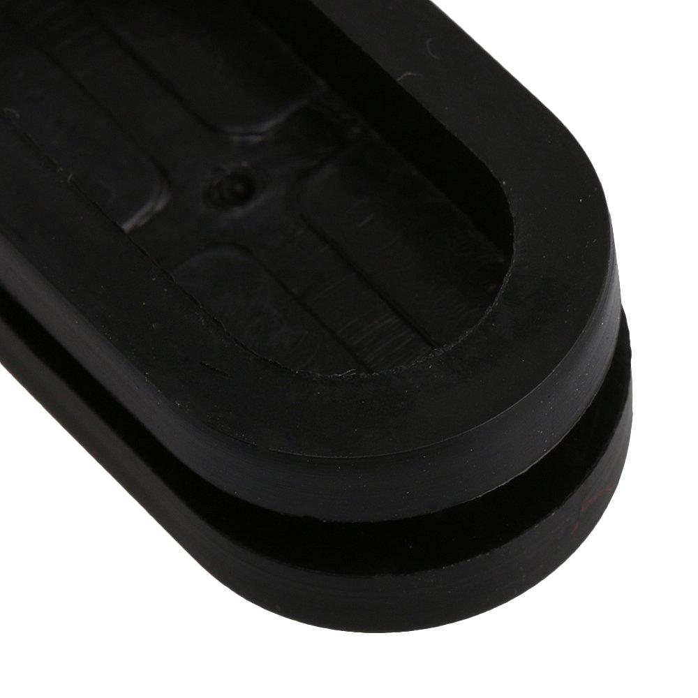 BQLZR 12x26mm Nut Schwarz Oval Form Doppelseitig Geschlossen Blank Gummi Wiring Draht ?sen Dichtungen Schutzring Heimwerker Pack von 20