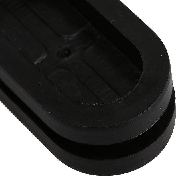 12x26mm Nut schwarz Oval Form doppelseitig geschlossene leere Gummi Verdrahtungs Draht Grommets Dichtungen Besch/ützer Ringe Packung von 20 st/ück