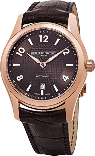 Frederique Constant Men's 'Runabout' Automatic Stainless Steel and Leather Casual Watch, Color:Brown (Model: FC-303RMC6B4)