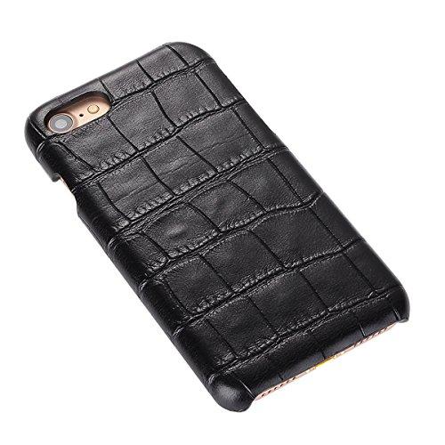 iPhone 7 Hülle, Moonmini® Krokodil Getreide Hanyhülle Prämie PU Leder Snap On zurück Schutz Cover für iPhone 7