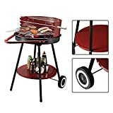 "21"" Portable Charcoal Grill Outdoor Folding Barbecue Trolley BBQ Bonus free ebook By Allgoodsdelight365"