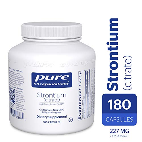 (Pure Encapsulations - Strontium (Citrate) - Hypoallergenic Dietary Supplement to Support Healthy Bones* - 180 Capsules)