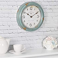 FirsTime & Co. Patina Wall Clock, 8.5, Aged Teal