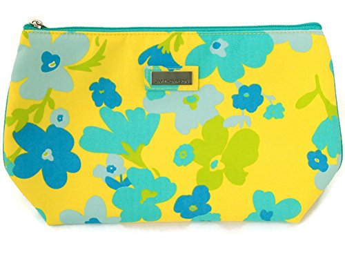 Jim Thompson - Woman Cotton Coin Cosmetic Bag - Blue Flowers on Yellow