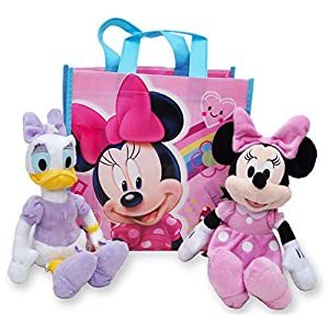 Disney 10″ Plush Minnie Mouse & Daisy Duck 2-Pack (Pink Minnie & Daisy)