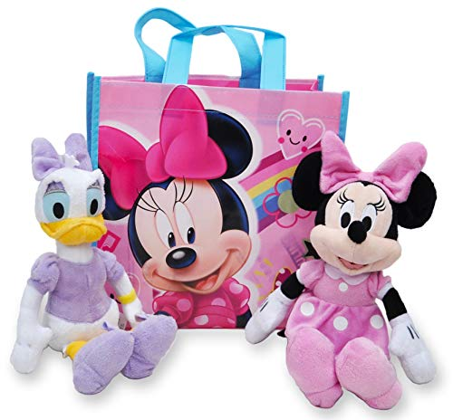 "Disney 10"" Plush Minnie Mouse & Daisy Duck 2-Pack in Gift Bag"