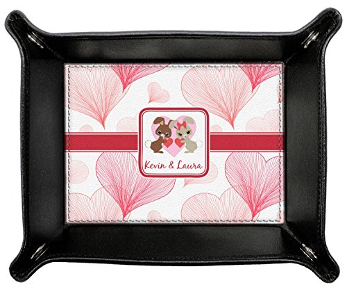 Hearts & Bunnies Genuine Leather Valet Tray (Personalized) by RNK Shops