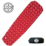 ZOELLY Ultralight Sleeping Pad, Camp Sleep Pad - Durable, Inflatable Sleeping Pad - High Grade Pongee - Compact & Lightweight - Perfect Sleeping Pad for Camping, Backpacking, Travel or Relaxing