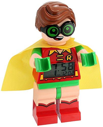 [LEGO Batman Movie Robin Kids Minifigure Alarm Clock] (Robin Clock)