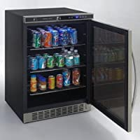 Avanti Model Bca5105sg-1 - Beverage Cooler With Glass Door - 5.30 Ft - Auto-defrost - Stainless, Black