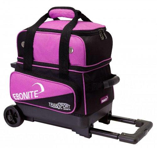 Ebonite Transport I Bowling Ball Bag, Black/Pink by Ebonite