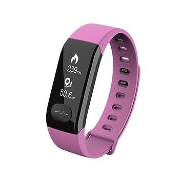 Coloré(TM) Montre Connectée, ECG bracelet intelligent moniteur de fréquence cardiaque tension artérielle