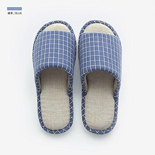 in in per da pantofole da pantofole estate scuro cotone antiscivolo femminile donna blu casa fankou Pantofole 20cm casa 210 interno cotone p0Iw0fq