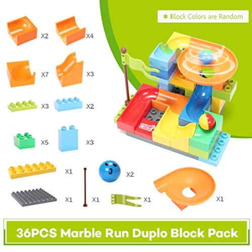 FUNTOK Marble Run Railway Construction Toys Star Travel Game 36pcs Building Blocks Toys for Child by FUNTOK (Image #6)