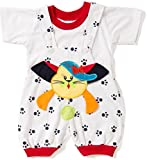 Miss U Soft cotton Dungaree Set With T-Shirt For Baby Boys Girls Kids (black, 12-18 Months)