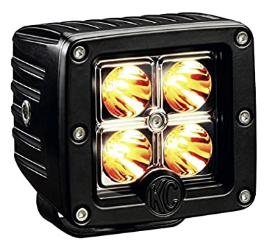 "KC HiLiTES 1315 C3 Amber 3"" 12W LED Spot Light System"