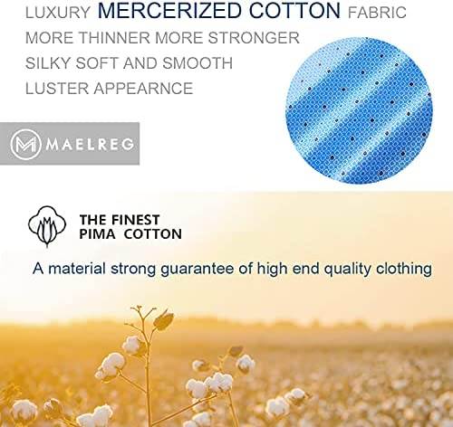 51Za75dNmjS. AC M MAELREG Men's Mercerized Cotton Short Sleeve Pima Polo Shirts Casual Collared Shirts    Product Description