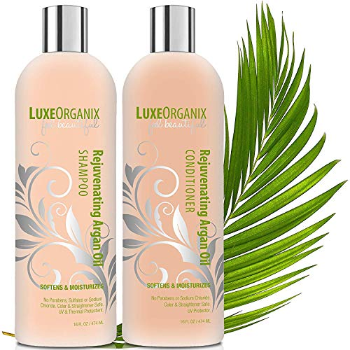 Sulfate Free Shampoo And Conditioner; Safe For Color Treated Hair And Keratin Treatments. Moroccan Oil Repairs And Smooths Damaged, Dry, Curly Or Frizzy Hair. SLS And Cruelty Free. 16oz Set (USA)