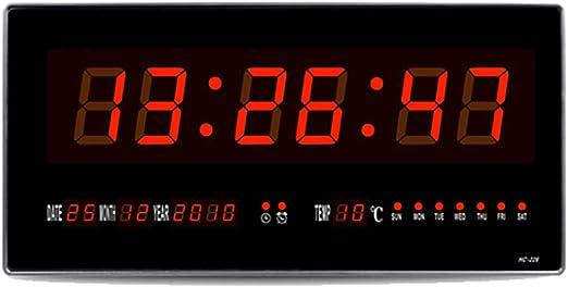 MYLEDI Rectangular Reloj Digital Pared Reloj Grande De La Pared ...