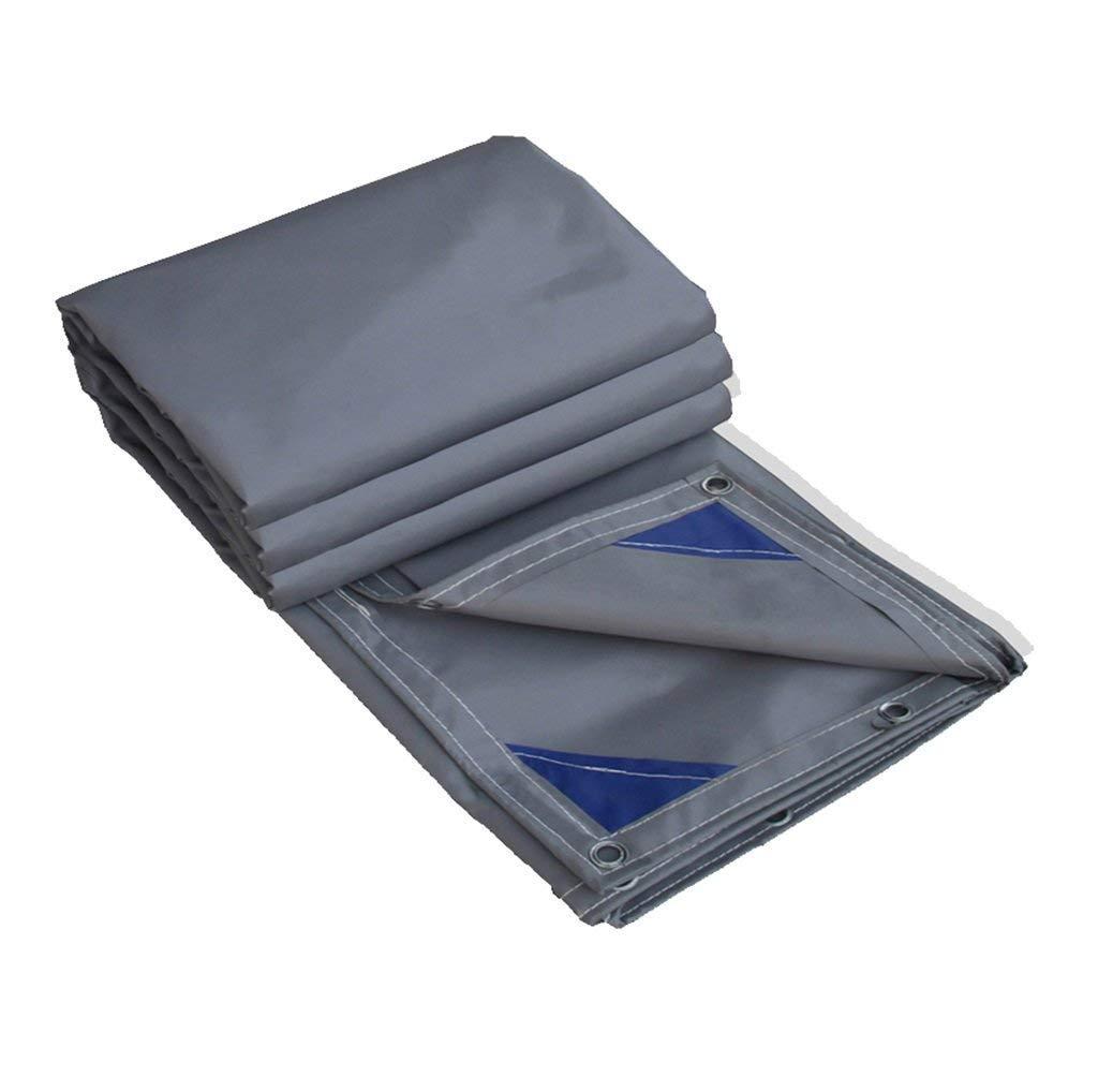 KF Doppelter Heavy Duty Plane Outdoor Campin Picknick Wasserdichte Plane Tarps Shade Cover, 100% wasserdicht und UV-geschütztes Stiefelzelt, 600 g m², 0,6 mm dick, grau