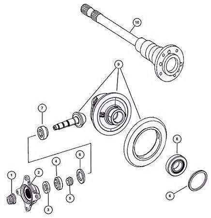 Amazon Com Bearing Rear Axle Wheel Hub Kit Mercedes Sprinter Dodge