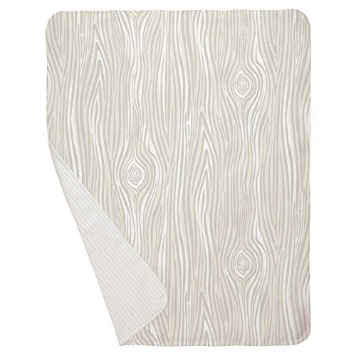 Carousel Designs French Gray Large Woodgrain Mini Crib Blanket by Carousel Designs (Image #2)
