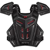 EVS Revolution 5 Adult Roost Guard MotoX/Off-Road/Dirt Bike Motorcycle Body Armor - Grey/Red / One Size