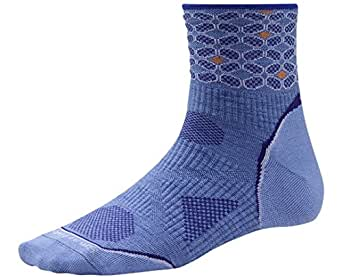 Smartwool Womens PhD Run Ultra Light Pattern Mini Socks (Polar Purple) Large - Past Season -