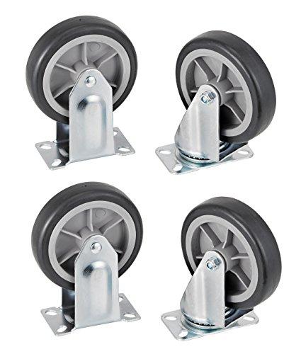 AdirOffice Folding Aluminum Platform Truck - Flatbed Cart - Single Handle - 5'' Non-Marking Polyurethane Casters - 600 lbs Capacity - 48'' x 24'' by AdirOffice (Image #7)